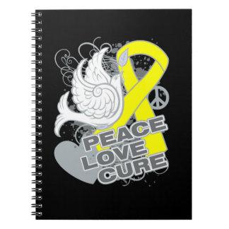 Testicular Cancer Peace Love Cure Note Books