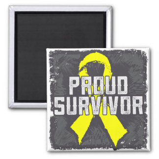 Testicular Cancer Proud Survivor Square Magnet