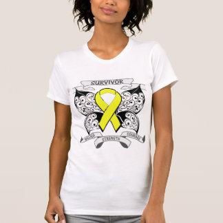 Testicular Cancer Survivor Butterfly Strength Tee Shirts