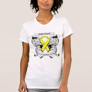 Testicular Cancer Survivor Butterfly Strength T Shirt