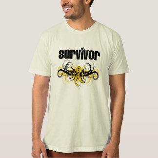 Testicular Cancer Survivor Grunge Winged Emblem T-shirts