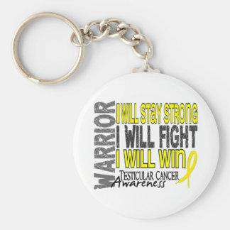 Testicular Cancer Warrior Basic Round Button Key Ring