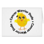 Testicular Cancer Warrior Dude Greeting Card