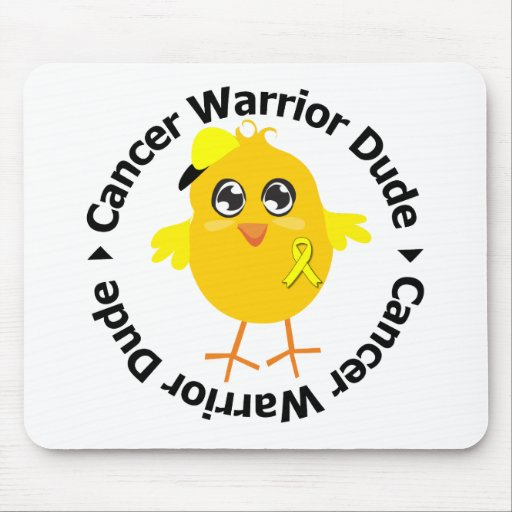 Testicular Cancer Warrior Dude Mouse Pad