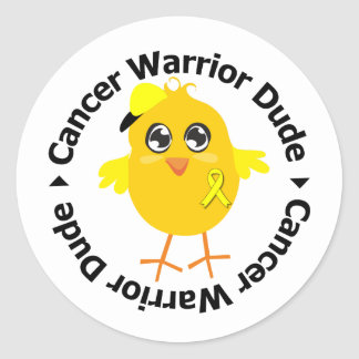 Testicular Cancer Warrior Dude Stickers