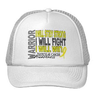 Testicular Cancer Warrior Trucker Hats