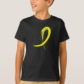 Testicular Cancer Yellow Ribbon A4 T-Shirt
