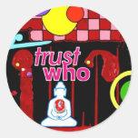 """Testimony"" Round Sticker"