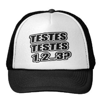 Testing Testing 1 2 3 Testes Testes 1 2 ... 3? Trucker Hats