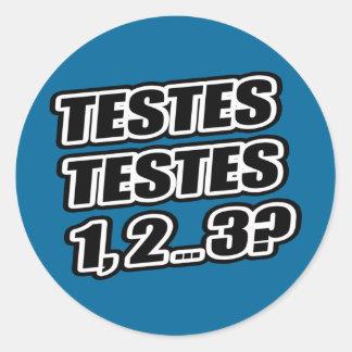 Testing Testing 1 2 3 Testes Testes 1 2 3 Sticker