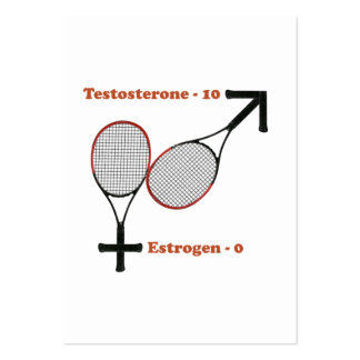 Testosterone Tennis Business Card Templates