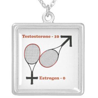 Testosterone Tennis Pendants