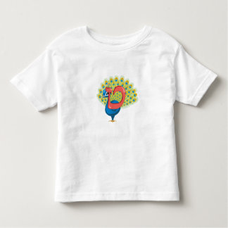 Tet the Peacock, Heberw Aleph Bet (Alphabet) Toddler T-Shirt