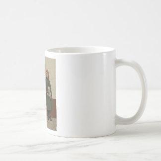 Tête à Tête~Shoe Shine Boy ~ News Girl Coffee Mug