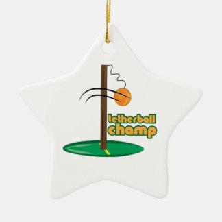 Tetherball Champ Ceramic Star Decoration
