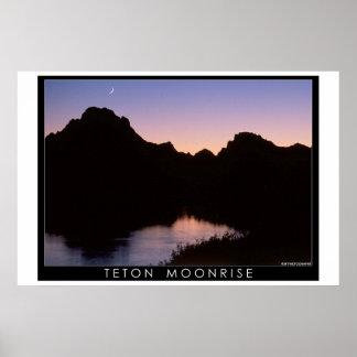 Teton Moonrise Poster