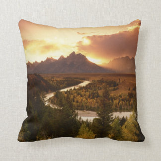 Teton Range at sunset, from Snake River Cushion