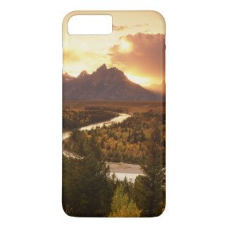 Teton Range at sunset, from Snake River iPhone 8 Plus/7 Plus Case