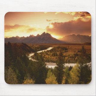 Teton Range at sunset, from Snake River Mouse Pad