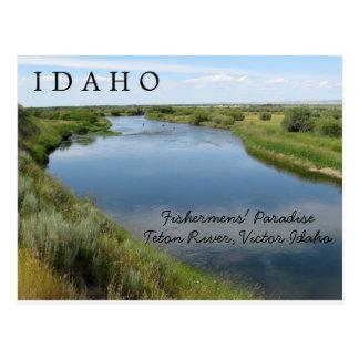 Teton River, Idaho, Fishermen's Paradise PC Postcard