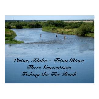 Teton River, Idaho Postcard