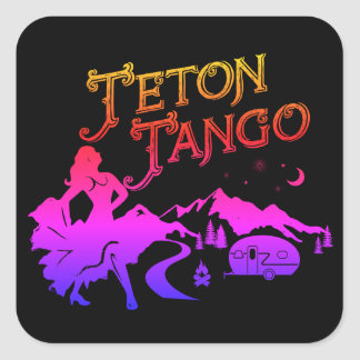Teton Tango Sticker pink&blk