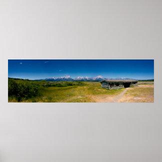 Tetons Panorama Poster