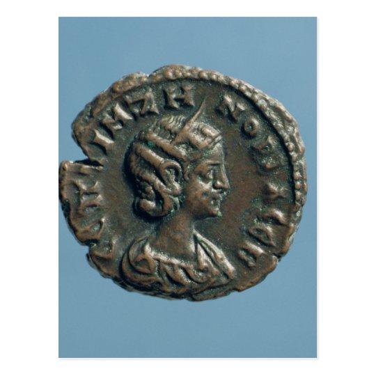 Tetrachm  of Zenobia, Queen of Palmyra Postcard