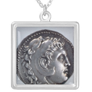Tetradrachma depicting Alexander the Great Silver Plated Necklace