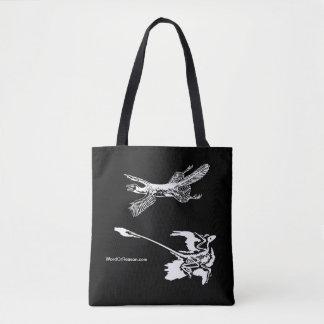 'Tetrapteryx' & Microraptor Tote Bag