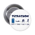 Tetrathon Triathlon T-shirt Button