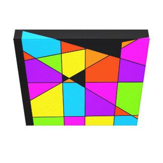 Tetris Abstract Art Canvas Print