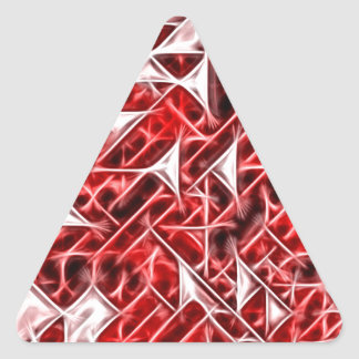 Tetris Nostalgia energetic triangle pattern Triangle Sticker