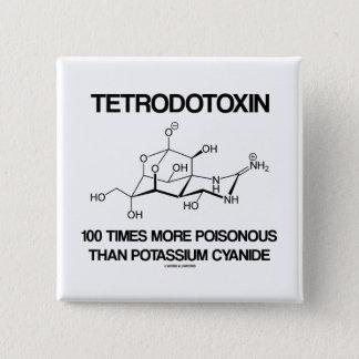 Tetrodotoxin 100 Times More Poisonous Than Cyanide 15 Cm Square Badge
