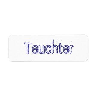 Teuchter Sticker Return Address Label