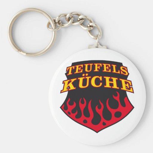 Teufels Küche-Hexenküche Basic Round Button Key Ring