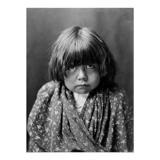 Tewa Indian Child, 1905 Poster
