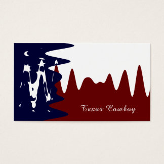 Texan Abstract Flag, Texas Business Card