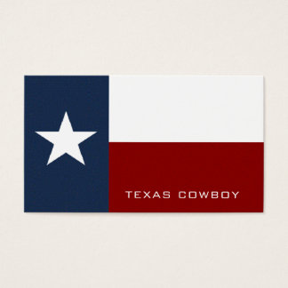 Texan Flag, Texas Business Card