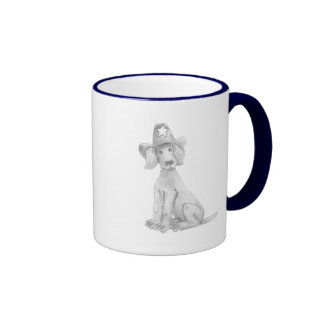 Texan Weimaraner Coffee Mug