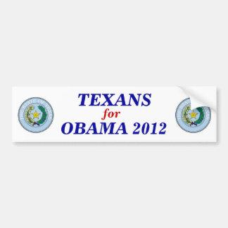 Texans for Obama 2012 sticker Bumper Sticker