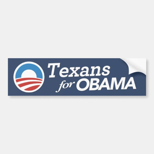 Texans For Obama Bumper Sticker (CUSTOM COLOR)
