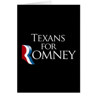 Texans for Romney -.png Greeting Card