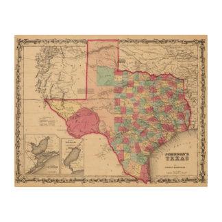 Texas 10 wood print