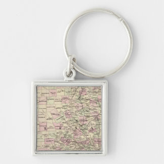 Texas 12 Silver-Colored square key ring
