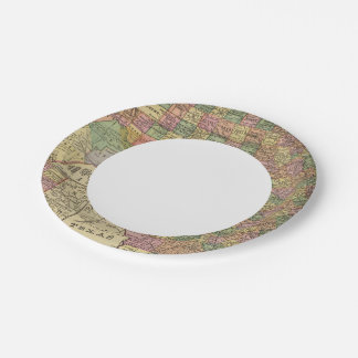 Texas 13 7 inch paper plate