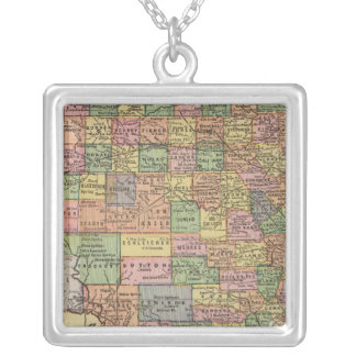 Texas 13 silver plated necklace