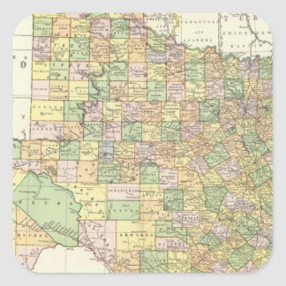 Texas 15 square sticker
