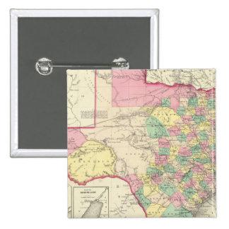 Texas 4 15 cm square badge