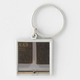 Texas 6 Silver-Colored square key ring